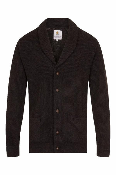 MEN'S CASHMERE CARDIGAN - CADBURY