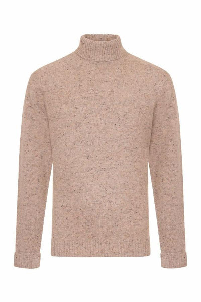 MEN'S DONEGAL ROLL NECK KNIT - CLARE