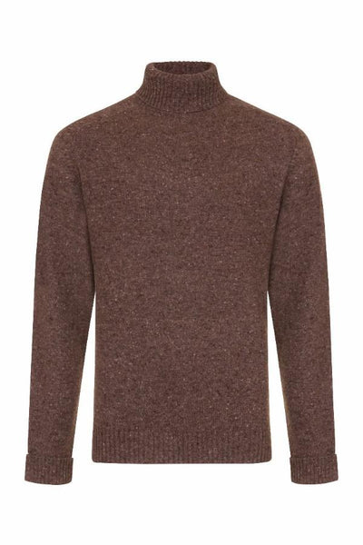 MEN'S DONEGAL ROLL NECK KNIT -Dundalk