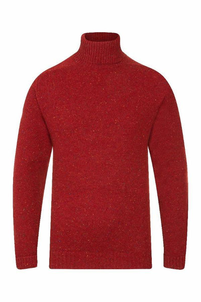 MEN'S DONEGAL ROLL NECK KNIT -VESUVIUS