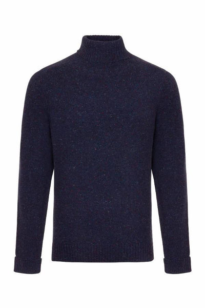 MEN'S DONEGAL ROLL NECK KNIT -WATERVILLE