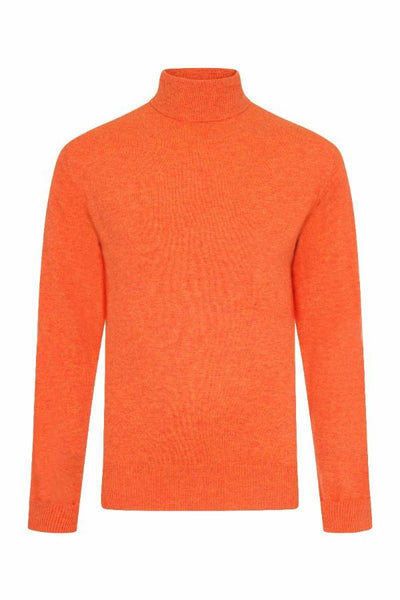 MEN'S ROLL NECK CASHMERE - FLAMING