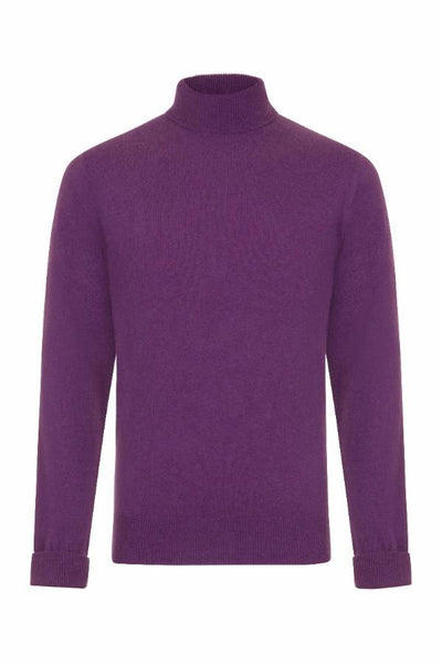 MEN'S ROLL NECK CASHMERE - VELVET