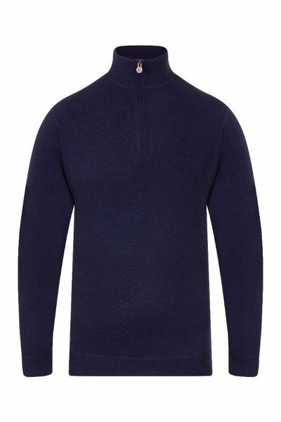 MEN'S 1/4 ZIP PULLOVER - BRIGHT NAVY