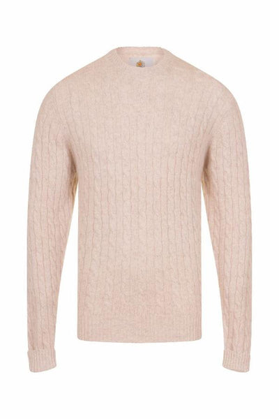 MEN'S CABLE CREW NECK CASHMERE -CHALET