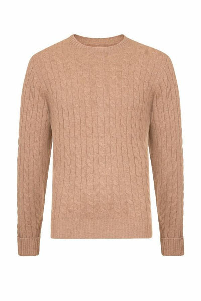 MEN'S CABLE CREW NECK CASHMERE - CROFTER