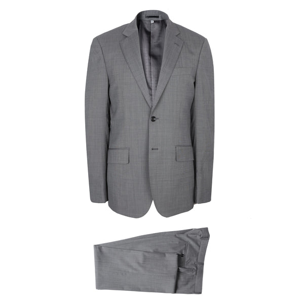 Hardy Amies Savile Row Light Grey Nailhead Brinsley Fit Suit
