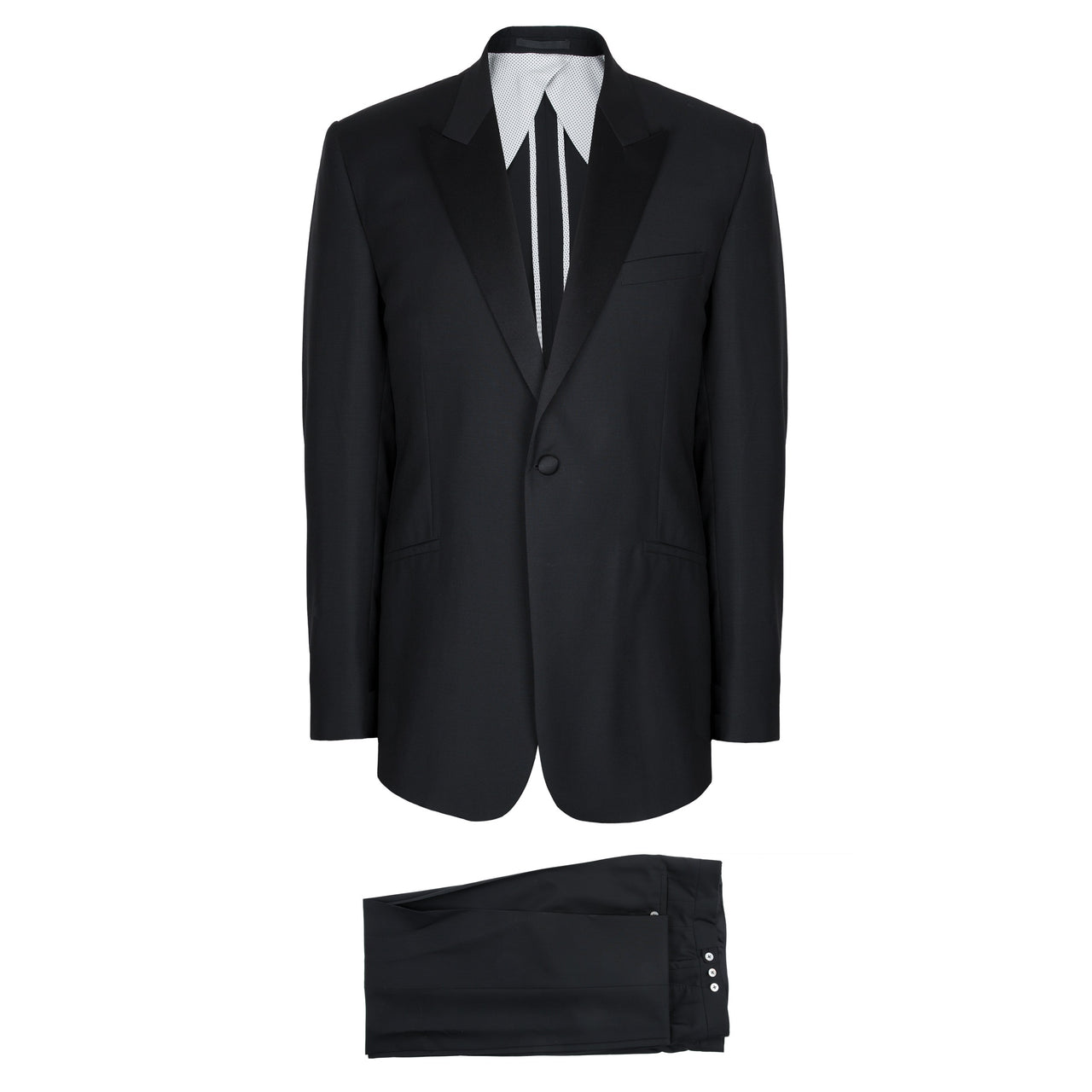 Kilgour Savile Row Luxury Wool & Mohair Peak Lapel Tuxedo