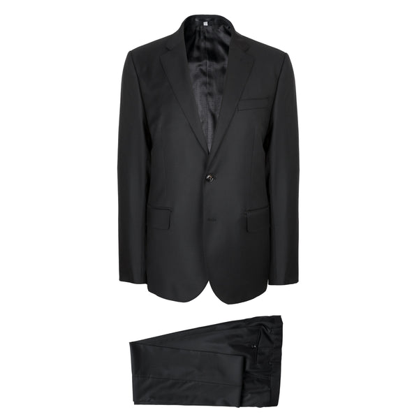 Hardy Amies Savile Row Solid Black Slim Fit Heddon Suit