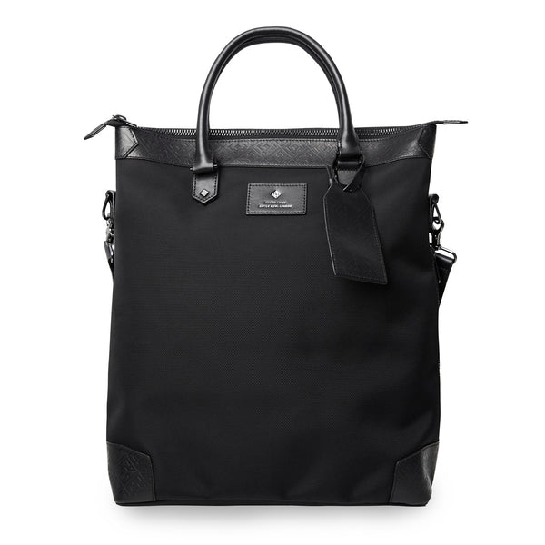 Hardy Amies Black Leather Trim Explorer Tote Bag