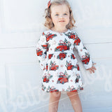 All Aboard Baby Girl Dress