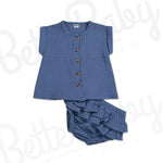 All The Button Baby Girl Outfit