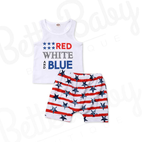 American Way Baby Boy Outfit