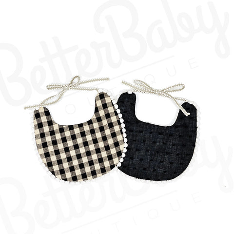 Checkmate Reversible Baby Bib