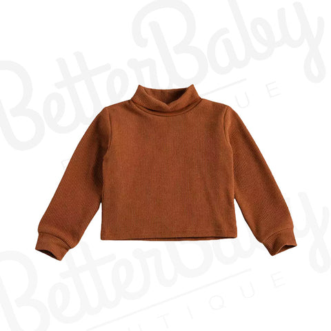 Cognac Baby Girl Sweater