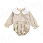 Cord And Collar Baby Romper