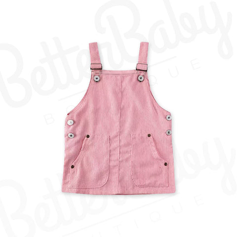 Corduroy Overall Baby Dress