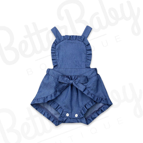 Crazy Over Blue Baby Romper