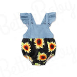 Denim Sun Baby Girl Romper