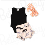 Desert Dust Baby Girl Outfit And Wrap