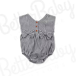 Double Bow Baby Girl Romper