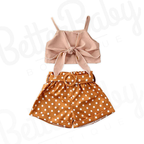 Enchanted Mocha Baby Girl Outfit