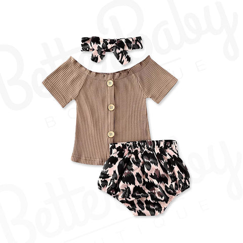Espresso Baby Girl Outfit