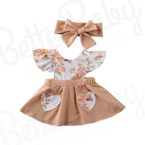 Fetching Rose Baby Dress And Wrap