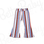 Flare And Stripes Baby Girl Pants