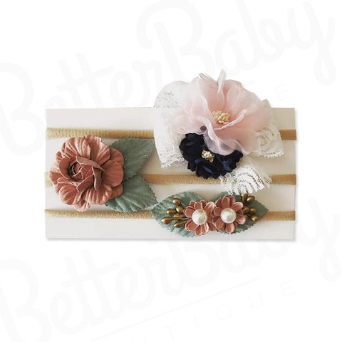 Floral Love Baby Headband