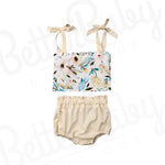 French Garden Baby Girl Outfit