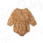 Ginger Baby Romper With Peter Pan Collar