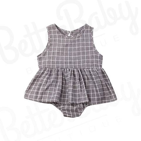 Grid A Baby Girl Romper