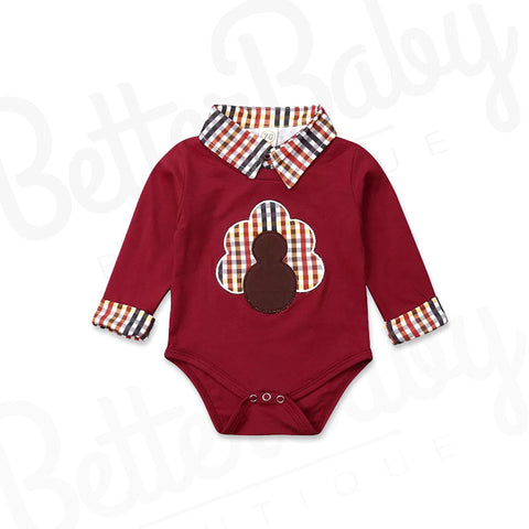 Handsome Turkey Baby Boy Onesie