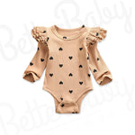 Heart To Believe Ribbed Baby Romper