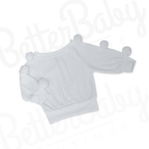 Keep Pom Baby Girl Sweater