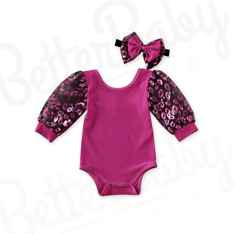 Kiss Hello Baby Girl Romper