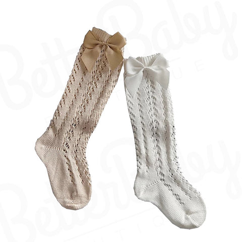 Knitted Baby Girl Socks
