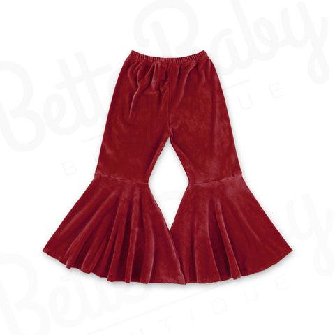 Let's Groove Baby Bell Bottoms Ruby