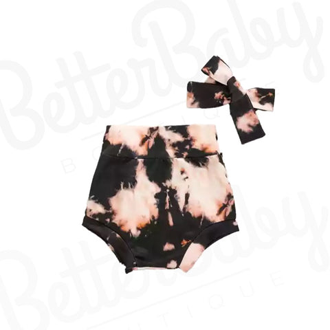Marble Baby Girl Shorts And Wrap