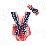 Miss America Baby Girl Romper Back