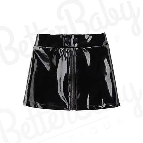 Now Or Leather Baby Skirt