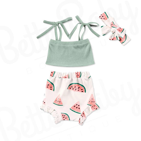 Once In A Melon Baby Girl Outfit