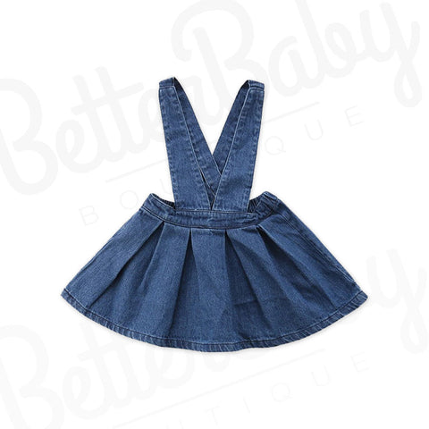Over It Denim Baby Dress