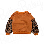 Patched Leopard Baby Girl Sweater
