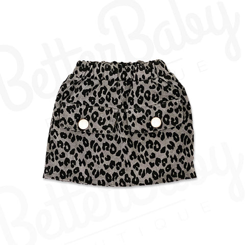 Paws Off Baby Skirt Gray