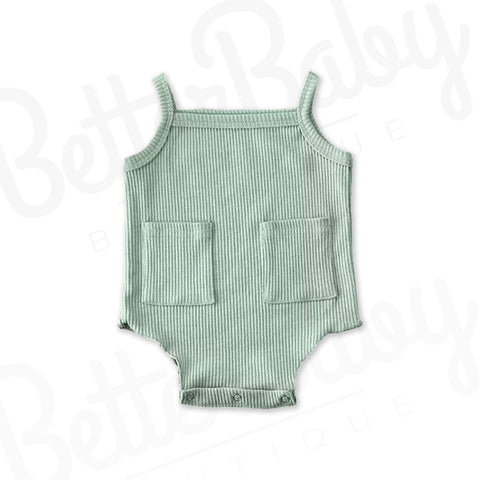 Pick Pocked Ribbed Baby Onesie