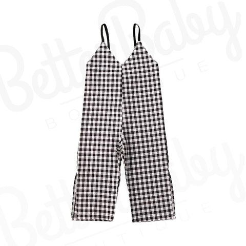 Plaid Baby Girl Jumpsuit