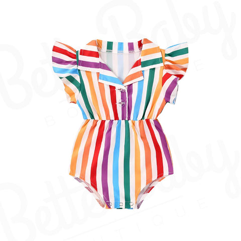 Popsicle Baby Girl Romper