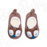 Put A Sock On It Baby Slippers Brown
